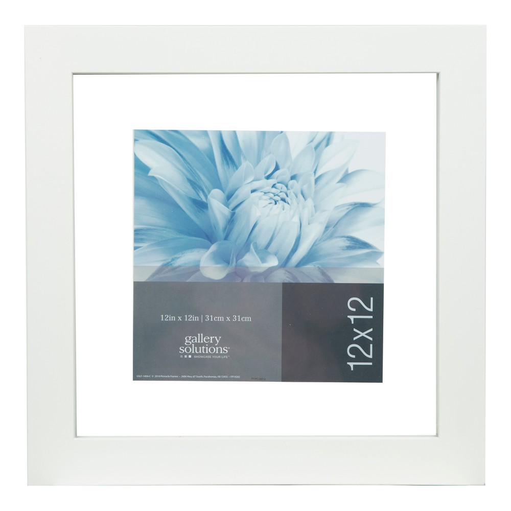 """Image of """"12"""""""" x 12"""""""" Single Picture Float To 8"""""""" x 8"""""""" Wide White Frame - Gallery Solutions"""""""