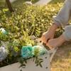Gardenised Mobile Planter Raised Garden Bed Rectangular Flower Cart with Shelf - image 4 of 4
