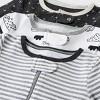 Baby 3pk Zip-Up Sleep N' Play - Cloud Island™ Black/White - image 3 of 4