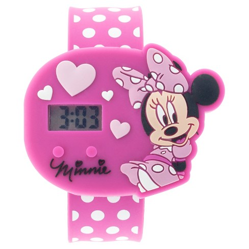Girls' Minne the Mouse Wristwatch - Pink - image 1 of 1