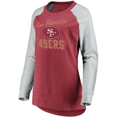 innovative design 13bb4 9ded2 NFL San Francisco 49ers Women's Brushed Tunic/ Gray Crew Neck Fleece  Sweatshirt