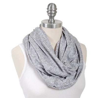 Bebe au Lait® Premium Cotton Jersey Nursing Scarf Gray - Lexington