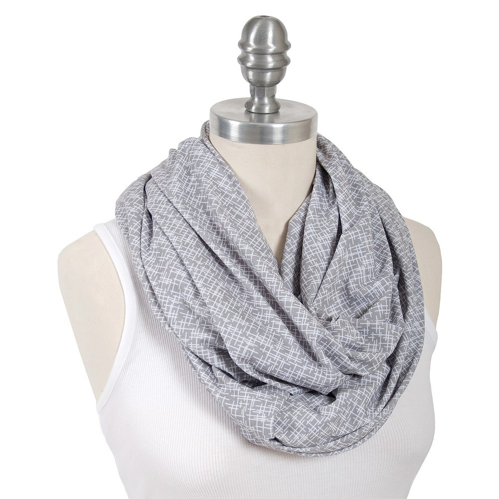 Image of Bebe au Lait Premium Cotton Jersey Nursing Scarf Gray - Lexington