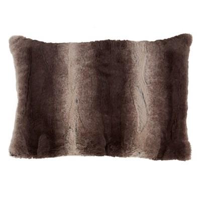 Animal Print Faux Fur Throw Pillow - Saro Lifestyle : Target