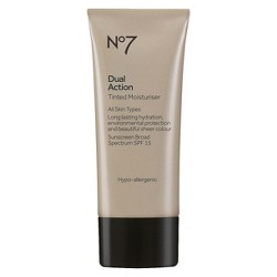 No7 Dual Action Tinted Moisturiser SPF 15 Medium - 1.6oz