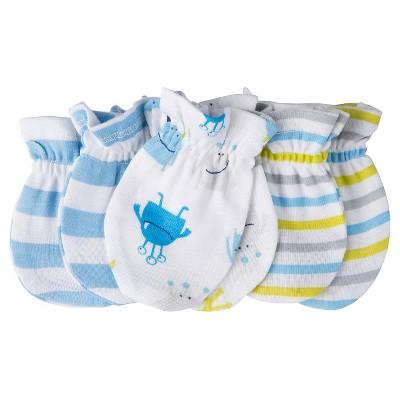 Gerber® Baby Boys' Stripe 3-Pack Mittens - Blue