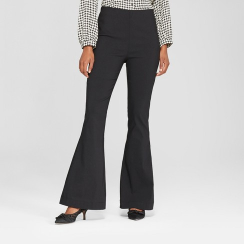 7c9149a3c2a4a Women s Relaxed Flared Pants - Who What Wear™ Black   Target