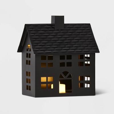 Metal House Decorative Figurine Black - Wondershop™