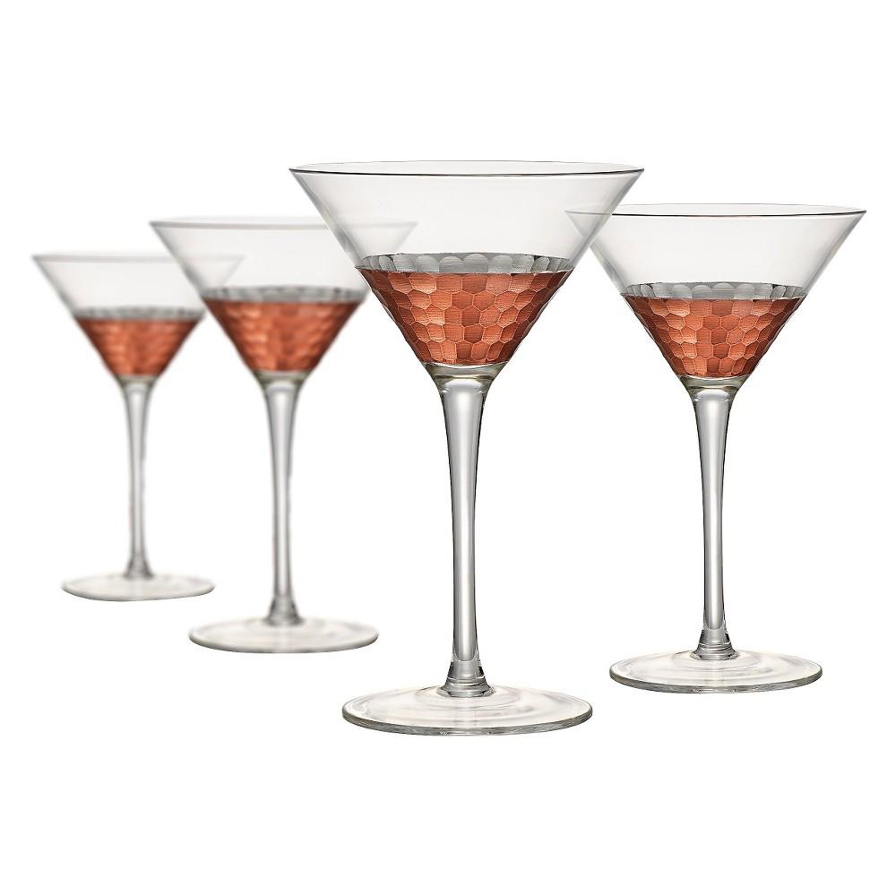Artland Coppertino 4pk 9oz Martini Glasses