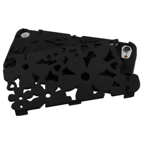 MYBAT For Apple iPod Touch 5th Gen/6th Gen Black Flowerpower Hard Hybrid Case Cover - image 1 of 2