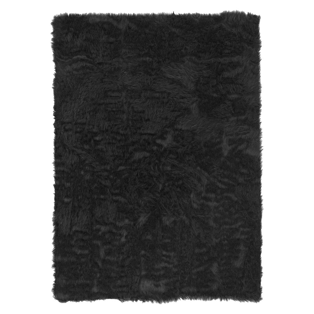 "Image of ""Faux Sheepskin Accent Rug - Brown ( 22""""x34"""" )"""