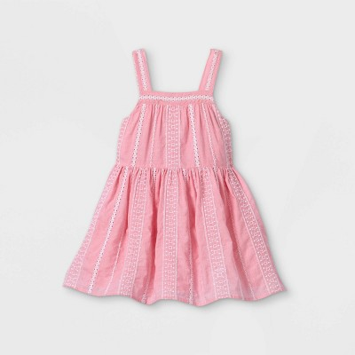 Toddler Girls' Eyelet Tank Dress - Cat & Jack™ Pink