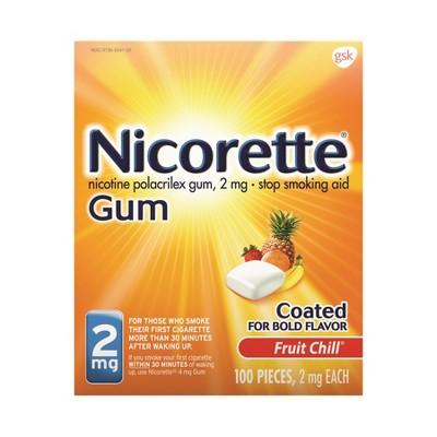 Nicorette 2mg Gum Stop Smoking Aid - Fruit Chill