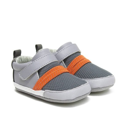 Baby Boys' Ro+Me by Robeez Sneakers - Orange/Gray 6-12M