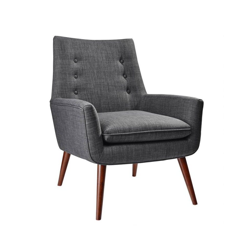 Image of Addison Chair Charcoal Gray - Adesso