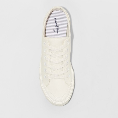f3a8b1c2b Women s Mandy Canvas Lace Up Sneakers - Universal Thread™ Cream 9   Target