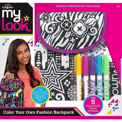 My Look Color Your Own Backpack By Cra Z Art Target