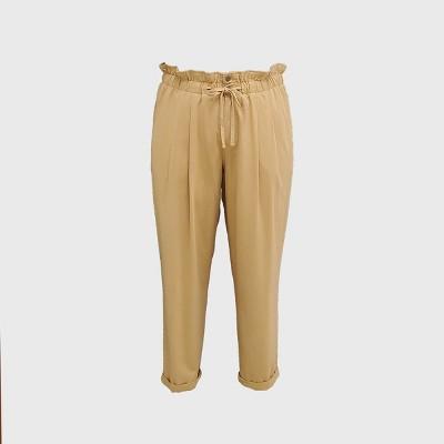 Women's Plus Size Tie-Waist Paperbag Pull-On Pants - Ava & Viv™