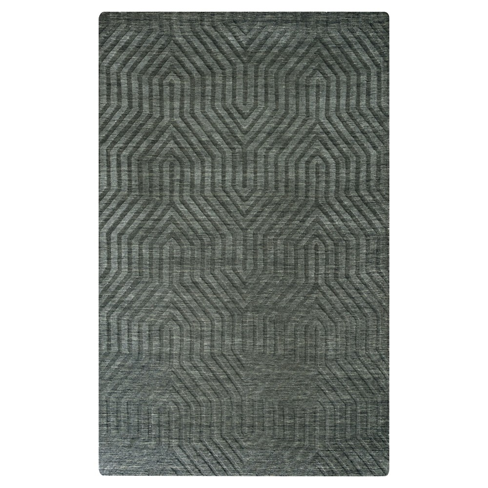 Image of 5'X8' Solid Area Rug Gray - Rizzy Home