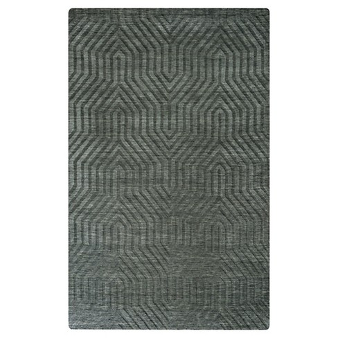 Rizzy Home Technique Collection Hand-Loomed 100% Wool Area Rug - image 1 of 3