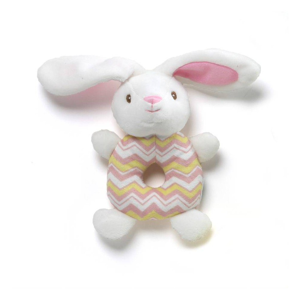 G by Gund Easter Ring Rattle Bunny - Pink