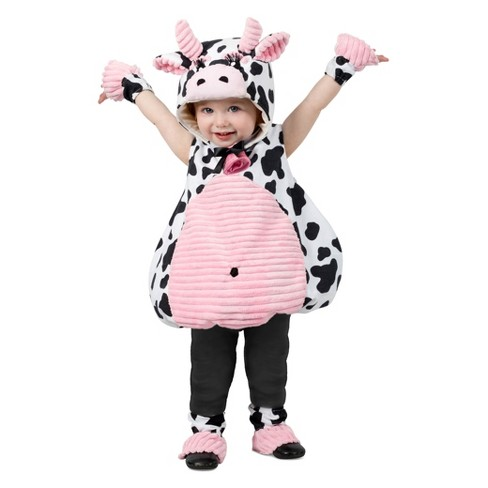 Girls' Pink Belly Cow Halloween Costume XS - image 1 of 1