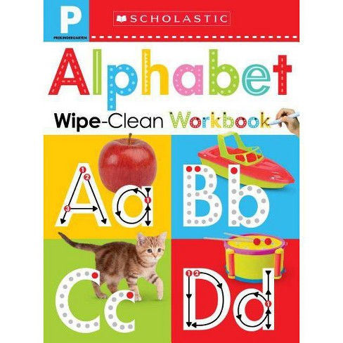Wipe-clean Workbook : Pre-k Alphabet -  by Scholastic Inc. & Scholastic Early Learners (Paperback) - image 1 of 1
