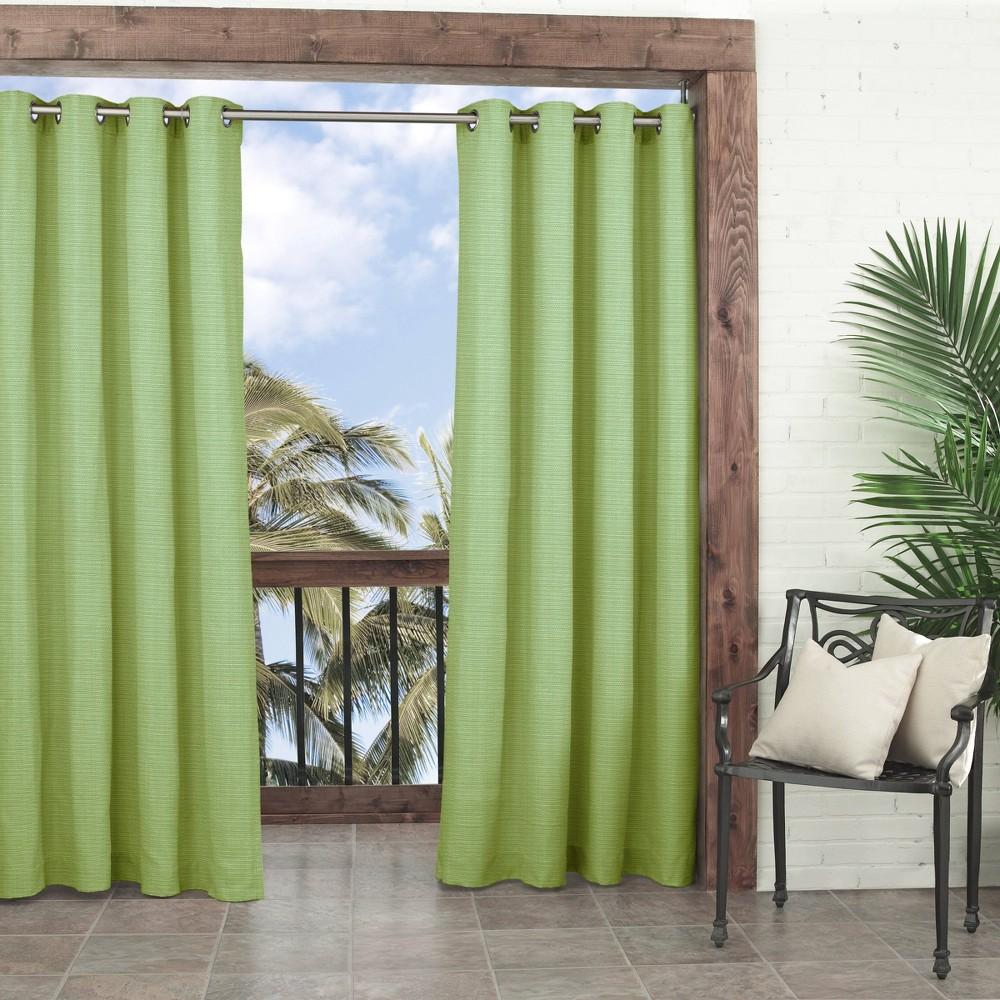 "Image of ""108""""x52"""" Key Largo Light Filtering Curtain Panel Green - Waverly Sun n Shade"""