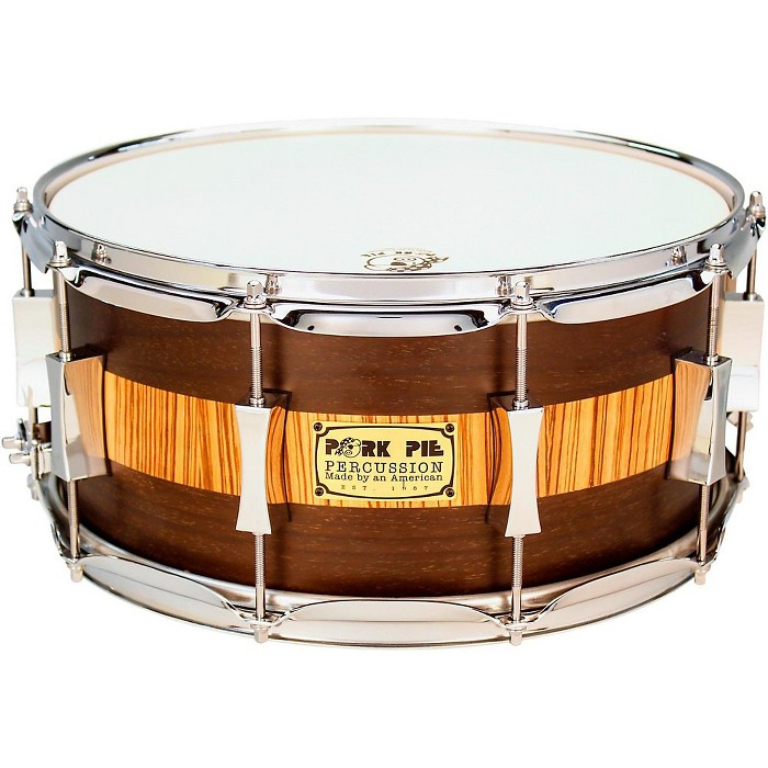Pork Pie Exotic Rosewood Zebrawood Snare Drum - image 1 of 2