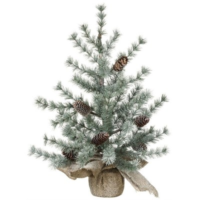 """Sullivans Artificial Frosted Pine Tree 25""""H Green"""