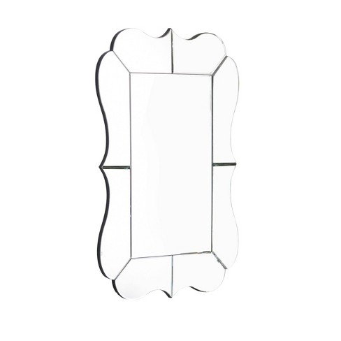 Holly Scalloped Rectangle Wall Mirror Silver - Abbyson Living - image 1 of 4