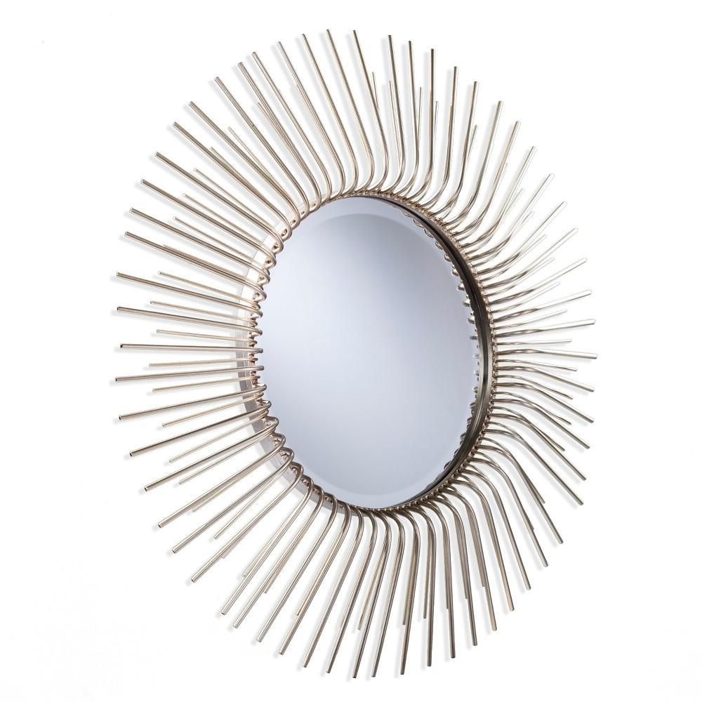"Image of ""Aiden Lane 32.5""""x32.5"""" Trella Round Oversized Sunburst Decorative Wall Mirror Gold"""