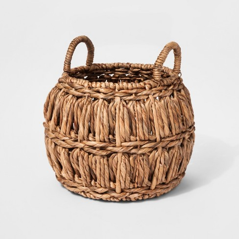 Woven Water Hyacinth Basket - Threshold™ - image 1 of 1