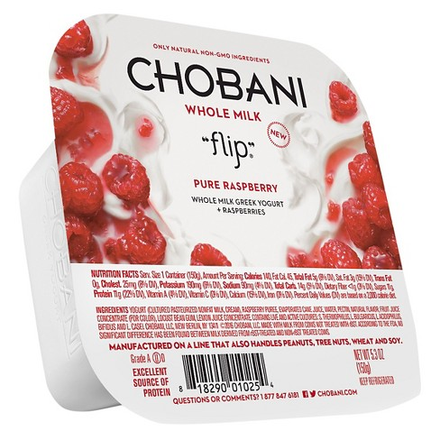 Chobani Flip Pure Raspberry Greek Yogurt - 5.3oz - image 1 of 1