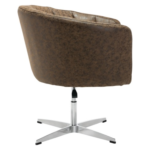 . Modern Upholstered Occasional Chair Vintage Coffee   ZM Home