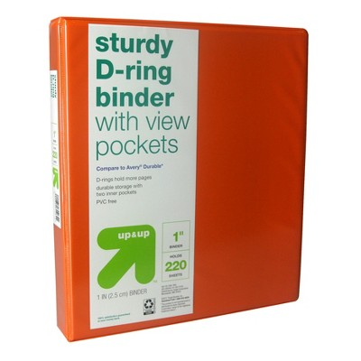 "1"" 3 Ring Binder Clear View - up & up™"