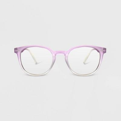 Women's Blue Light Filtering Round Glasses - A New Day™ Light Purple