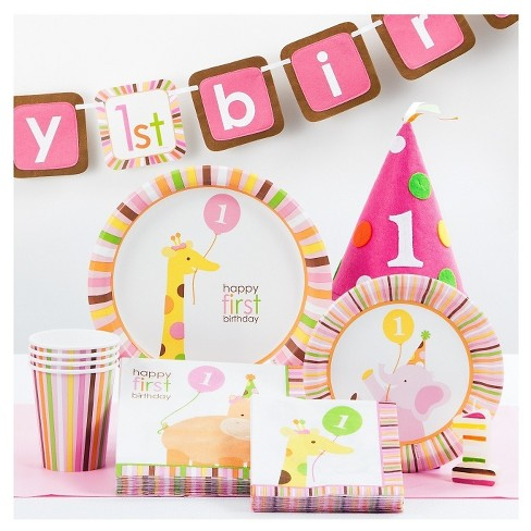 8ct Happy 1st Birthday Disposable Plate Target