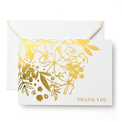 50ct Mari-Mi Floral Thank You Cards - image 1 of 1