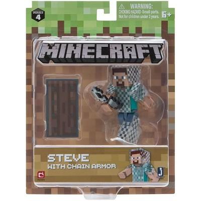 Jazwares, Inc. Minecraft Steve in Chain Armor 3.25 Inch Action Figure