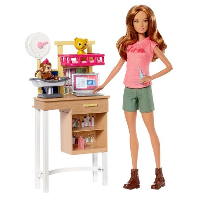 Barbie Careers Zoo Doctor Doll & Playset