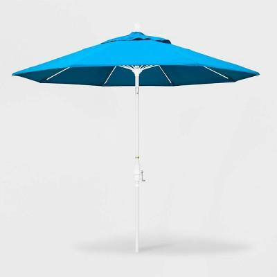 9' Sun Master Patio Umbrella Collar Tilt Crank Lift Sunbrella - California Umbrella