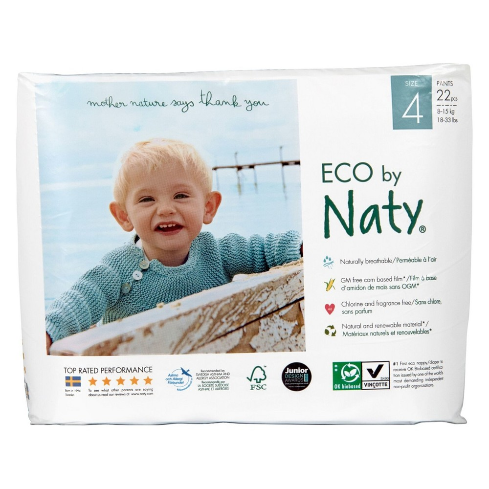 Eco by Naty Size 4 Pull On Training Pants (22 ct)