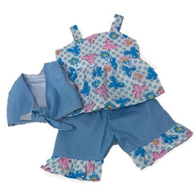 Doll Clothes Superstore Blue 3 Piece Set Fits Some Baby Alive And Little Baby Dolls