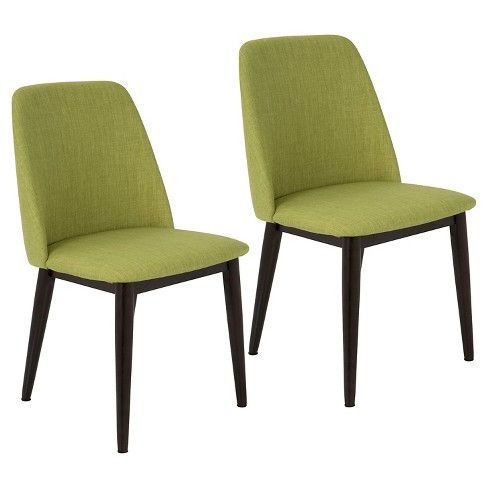 Tintori Mid Century Modern Dining Chair Set Of 2 Green Lumisource