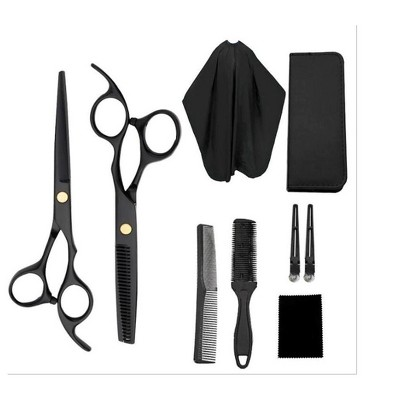 Hair Cutting Scissors Set, 9 Pcs Hairdressing Scissors Barber Thinning Hair Cutting Shears Kit, Trimming, Shaping, Grooming, for Barber Salon or Home