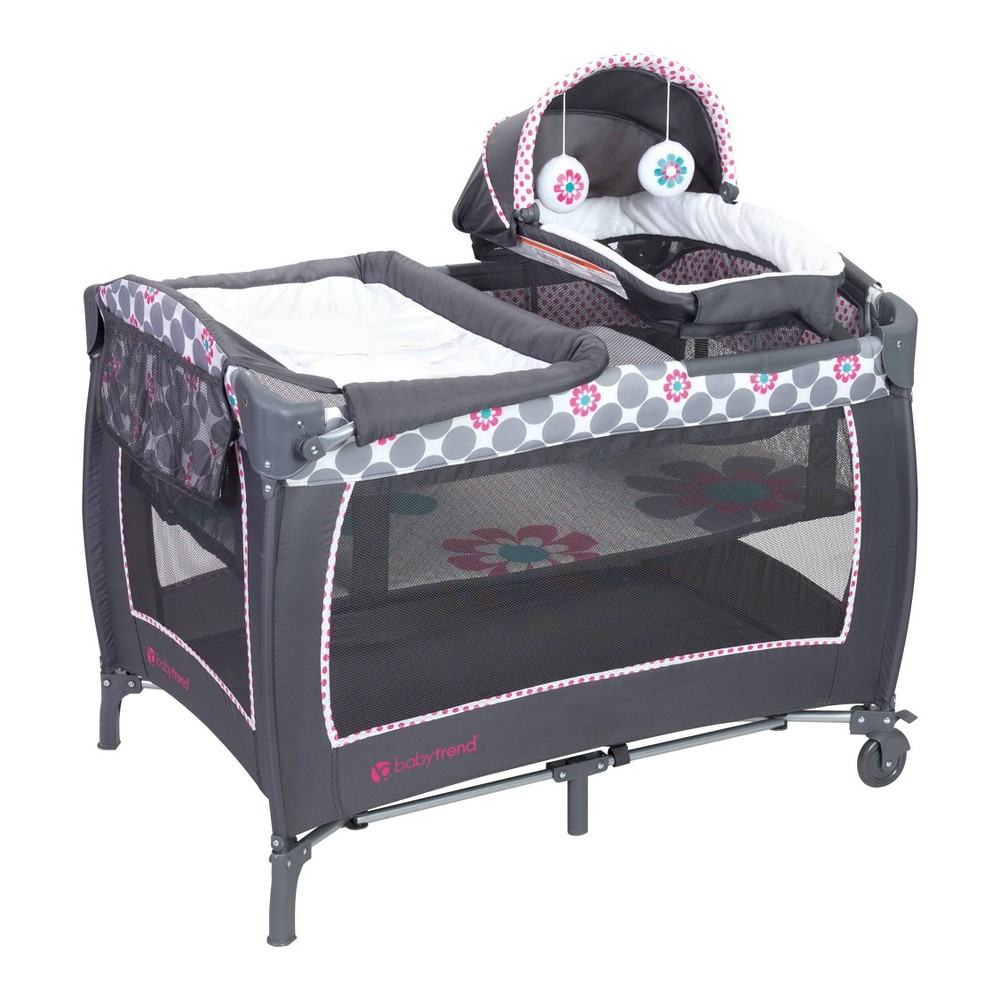 Image of Baby Trend Lil Snooze Deluxe II Nursery Center - Daisy Dots