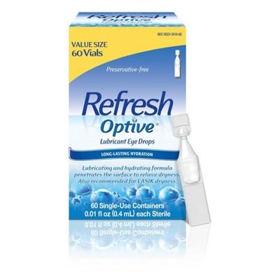 Refresh Optive Sensitive Lubricant Eye Drops - 60ct