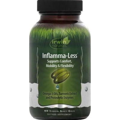 irwin naturals Inflamma-Less Dietary Supplement Liquid Softgels - 80ct