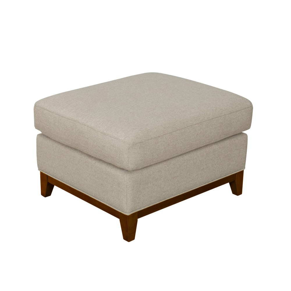 Brooklyn Large Pillowtop Ottoman Tan - Homepop